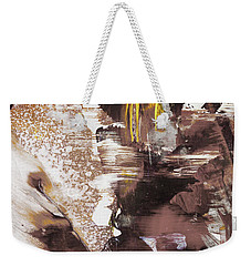 Always On My Mind - Brown Contemporary Abstract Painting Weekender Tote Bag