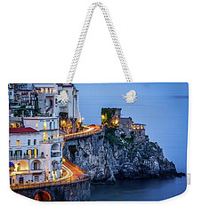 Weekender Tote Bag featuring the photograph Amalfi Coast Italy Nightlife by Nathan Bush