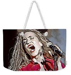 Weekender Tote Bag featuring the digital art Amanda Marshall by Pennie McCracken