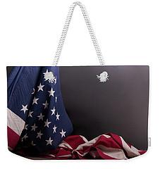 American Flag Draped On Itself Weekender Tote Bag