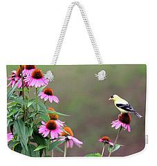 American Goldfinch On The Coneflowers Weekender Tote Bag