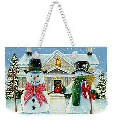 American Snowman Gothic Weekender Tote Bag