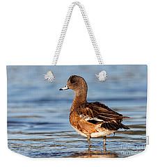 American Wigeon Standing Alert Weekender Tote Bag