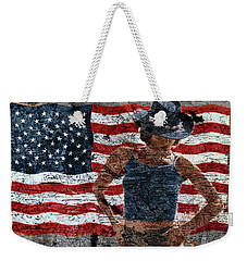 American Woman Weekender Tote Bag
