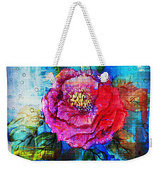 Weekender Tote Bag featuring the mixed media Amidst The Chaos by Sabine ShintaraRose