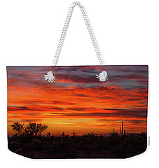 Weekender Tote Bag featuring the photograph An Arizona Sky by Rick Furmanek