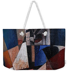 Weekender Tote Bag featuring the painting An Fear Lies An Gitar by Val Byrne