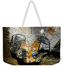 Weekender Tote Bag featuring the photograph Ancient Egypt Art  by Sue Harper