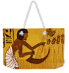 Weekender Tote Bag featuring the photograph Ancient Egypt Farmer by Sue Harper