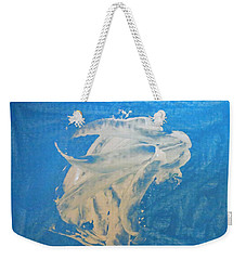 Angel And Dolphin Riding The Waves Weekender Tote Bag