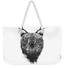 Angry Bear With Antlers Weekender Tote Bag