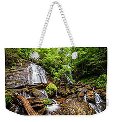 Weekender Tote Bag featuring the photograph Anna Ruby Falls by Andy Crawford
