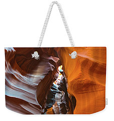 Weekender Tote Bag featuring the photograph Antelope Canyon Glorious by Mark Duehmig