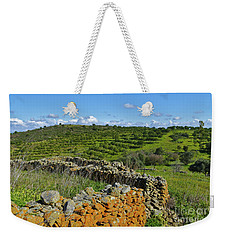 Antique Stone Wall Of An Old Farm Weekender Tote Bag