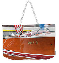 Weekender Tote Bag featuring the photograph Antique Wooden Boat 1305 by Rick Veldman