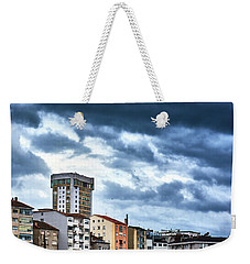 Weekender Tote Bag featuring the photograph Apartment Buildings In Ourense by Eduardo Accorinti