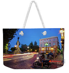 Weekender Tote Bag featuring the photograph Apodaca Boardwalk Traffic Lights Cadiz Spain by Pablo Avanzini