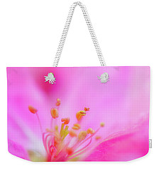 Weekender Tote Bag featuring the photograph Apple Blossom 1 by Leland D Howard