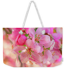 Weekender Tote Bag featuring the photograph Apple Blossom 12 by Leland D Howard