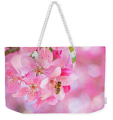 Weekender Tote Bag featuring the photograph Apple Blossom 2 by Leland D Howard