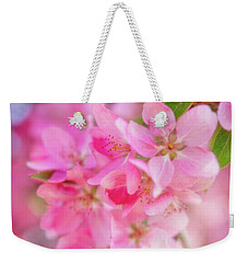 Weekender Tote Bag featuring the photograph Apple Blossom 5 by Leland D Howard