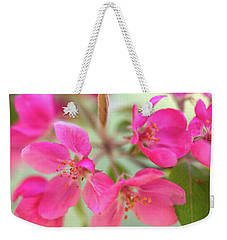 Weekender Tote Bag featuring the photograph Apple Blossom 6 by Leland D Howard
