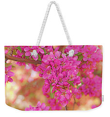 Weekender Tote Bag featuring the photograph Apple Blossoms A by Leland D Howard