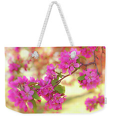 Weekender Tote Bag featuring the photograph Apple Blossoms B by Leland D Howard