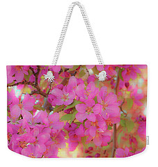 Weekender Tote Bag featuring the photograph Apple Blossoms C by Leland D Howard