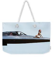 Area 71 Nose Art Weekender Tote Bag