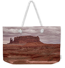 Weekender Tote Bag featuring the photograph Arizona Red Clay Painted Desert Panoramic View by James BO Insogna