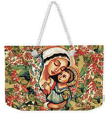 Weekender Tote Bag featuring the painting The Blessed Mother by Eva Campbell