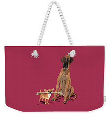 The Long And The Short And The Tall Colour Weekender Tote Bag