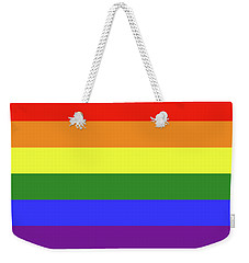 Lgbt 6 Color Rainbow Flag Weekender Tote Bag