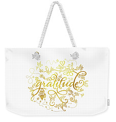 Golden Gratitude Weekender Tote Bag