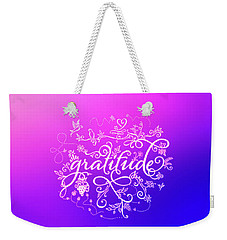 Purply Pink Gratitude Weekender Tote Bag
