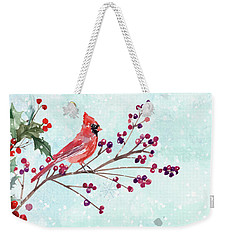 Woodland Holiday Peace Art Weekender Tote Bag
