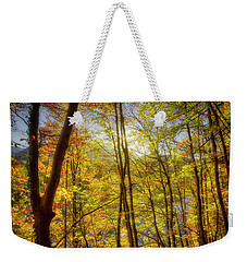 Weekender Tote Bag featuring the photograph As The Leaves Turn  by Edmund Nagele