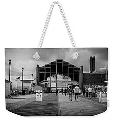 Weekender Tote Bag featuring the photograph Asbury Park Boardwalk by Steve Stanger