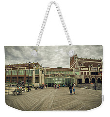 Weekender Tote Bag featuring the photograph Asbury Park Convention Hall by Steve Stanger
