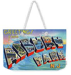 Asbury Park Greetings Weekender Tote Bag