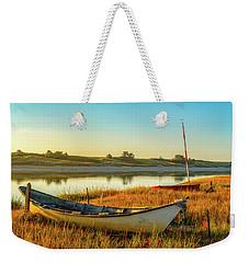 Boats In The Marsh Grass, Ogunquit River Weekender Tote Bag