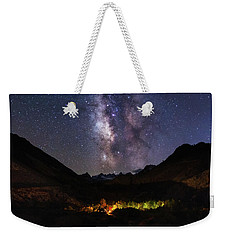 Weekender Tote Bag featuring the photograph Aspen Nights by Tassanee Angiolillo