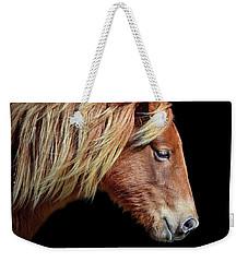 Assateague Pony Sarah's Sweet Tea Portrait On Black Weekender Tote Bag