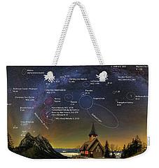 Astrophotography Winter Wonderland Weekender Tote Bag