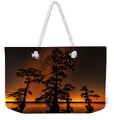 Weekender Tote Bag featuring the photograph Atchafalaya Basin On Fire by Andy Crawford