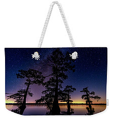 Weekender Tote Bag featuring the photograph Atchafalaya Basin Under The Miky Way by Andy Crawford