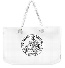 Athenaeum Of Philadelphia Logo Weekender Tote Bag