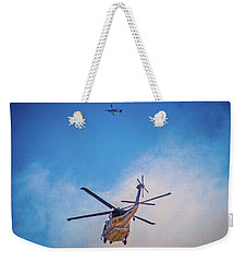 Weekender Tote Bag featuring the photograph Attacking The Fire From All Sides by Lynn Bauer