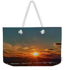 Weekender Tote Bag featuring the photograph Attean Pond Sunset by Rick Hartigan